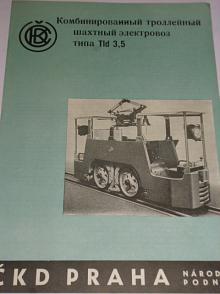 ČKD Tld 3,5 - důlní lokomotiva - prospekt - 1959