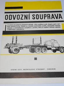 Praga V3S - odvozní souprava - prospekt - Státní lesy, průmyslové výroby - Chrudim
