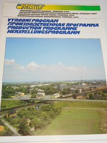 Moravskoslezská vagónka Studénka - ČSFR - MSV - výrobní program - prospekt