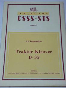 Traktor Kirovec D-35 - návod k použití a obsluze - 1951