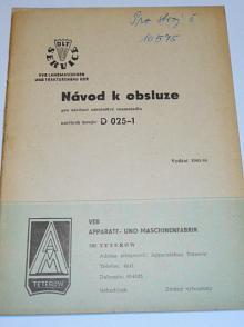 Závěsné odstředivé rozmetadlo umělých hnojiv D 025-1 - návod k obsluze - 1965/66 - Zetor 25, 35, 50, 3011