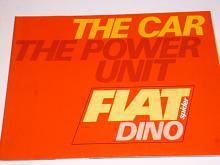 Fiat Dino spider - the car the power unit - prospekt