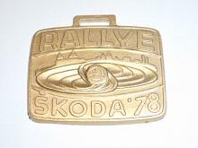 Rallye Škoda 1978 - V. mezinárodní automobilová soutěž - Mladá Boleslav - přívěsek na klíče - plaketa?