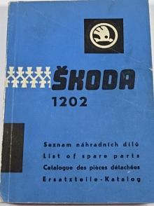 Škoda 1202 - seznam náhradních dílů - 1964