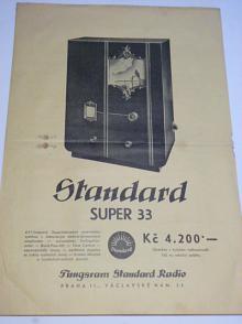 Tungsram Standard Radio Super 33 - prospekt