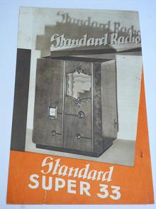 Standard Radio - Super 33 - prospekt