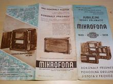 Mikrofona - jubilejní vzory přijimačů 1920 - 1935 - prospekt