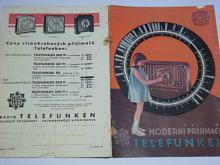 Telefunken - moderní přijimače - prospekt