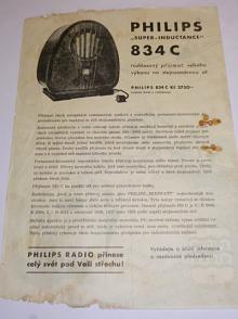 Philips Super - Inductance 834 C - prospekt - leták