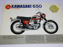 Kawasaki 650 model W2SS - prospekt
