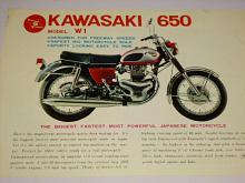 Kawasaki 650 model W1 - prospekt