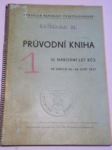 III. národní let RČS - průvodní kniha - 24. - 26. 9. 1937