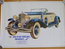 Duesenberg model J 1931 karoserie Le Baron - plakát - 1983