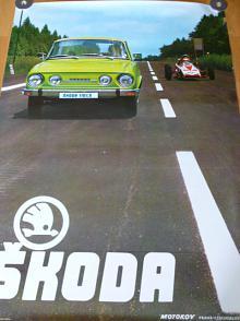 Škoda 110 LS - plakát - Motokov