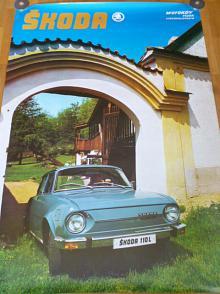 Škoda 110 L - plakát - Motokov