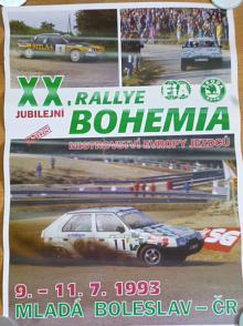 XX. Rallye Bohemie - 1993 - plakát - Škoda Favorit