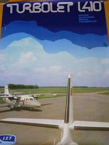LET Turbolet L 410 - plakát