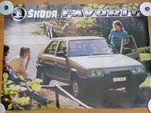 Škoda Favorit - plakát