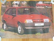 VAZ - LADA 2108 Samara - plakát - prospekt - Mototechna - 1990