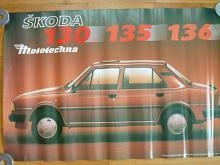 Škoda 130, 135, 136 - plakát - Mototechna