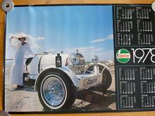 Castrol - Bugatti - plakát - kalendář 1978