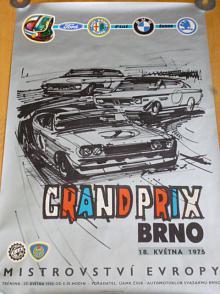 Grand Prix Brno - mistrovství Evropy - 1975 - plakát