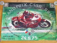 Grand Prix ČSSR Brno - 24. 8. 1975 - plakát
