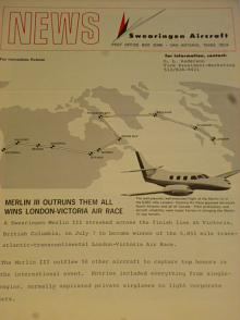 Merlin III - News Swearingen Aircraft - leták