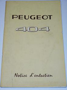 Peugeot 404 - Notice d´entretien - 1962