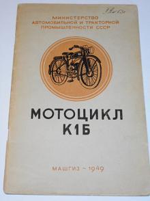Motocykl K1B - KMZ - návod k obsluze - 1949 - rusky