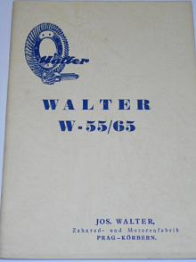 Walter W 55/65 Technische Beschreibung und Teilenverzeichnis des Benzinmotors
