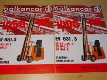 Balkancar - vysokozdvižné vozíky - prospekty