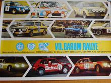 VII. Barum rallye - Gottwaldov 12.-13.8.1977 - plakát