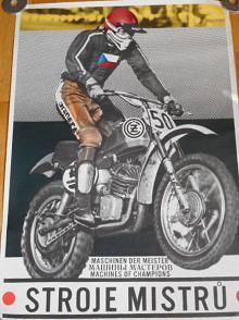 ČZ stroje mistrů - motokros - plakát