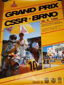 Grand Prix ČSSR Brno - 28. 8. 1988 - plakát