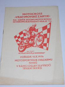 Motocross Vratimovské Zaryje - 10. 10. 1976 - program