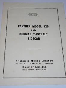 Panther model 120 and Busmar Astral Sidecar - prospekt - 1958