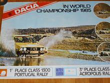 Dacia in World Championship 1985 - plakát