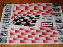 Champion race evenets calendar 1974 - plakát