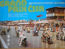 Grand Prix ČSSR - Mistrovství Evropy 28. 8. 1983 - plakát