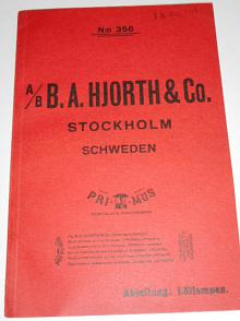 B.A. Hjorth a Co. Stockholm - Primus - Lötlampen - prospekt