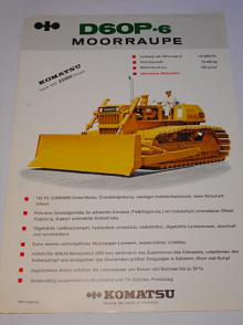 Komatsu D60P-6 Moorraupe - prospekt