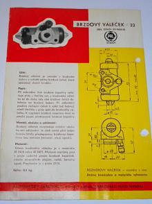Pal autobrzdy - brzdový váleček průměr 22 - prospekt - 1964