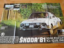Rallye Škoda 1981 - Škoda 130 RS - plakát