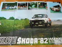 Rallye Škoda 1982 - Škoda 130 RS - plakát