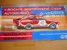 Balcarův Memoriál - V.ročník mistrovství ČSSR 1977 - plakát