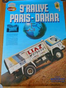 Liaz - 9. Rallye Paris Dakar - 1987 - plakát - Motokov