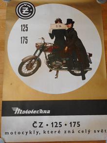ČZ 125, 175 - motocykly, které zná celý svět - plakát - Mototechna