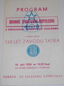 Plochá dráha jednotlivců semifinále - Kopřivnice 14. 9. 1980