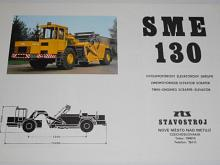 ZTS Stavostroj - SME 130 - dvoumotorový elevátorový skrejpr - prospekt